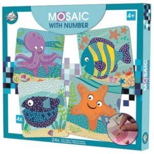 Óceán habszivacs mozaikos kreatív szett