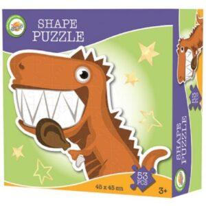 Dinoszaurusz forma puzzle 53 db-os