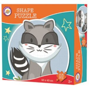 Mosómedve forma puzzle 53 db-os
