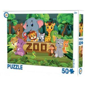 Állatkert puzzle 50 db-os