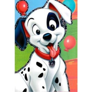 Disney 101 Kiskutya csillámos üdvözlőkártya+boríték