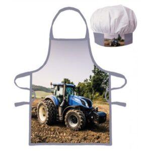 Traktor gyerek kötény 2 darabos szett