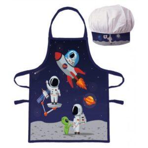 Űrhajós gyerek kötény 2 darabos szett