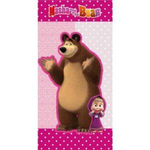 Mása és a medve fürdőlepedő, strand törölköző 70*140cm