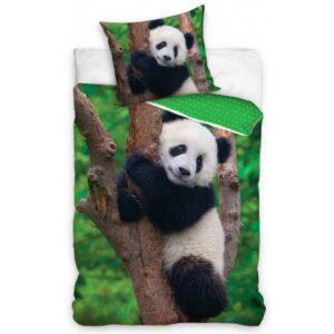 Panda ágyneműhuzat 160×200cm, 70×80 cm
