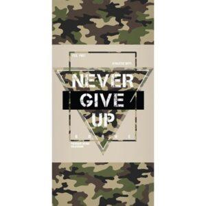 Never give up fürdőlepedő, strand törölköző 70*140cm