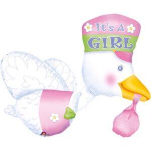 Baby Girl fólia lufi 81 cm