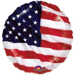 USA zászló fólia lufi 43 cm