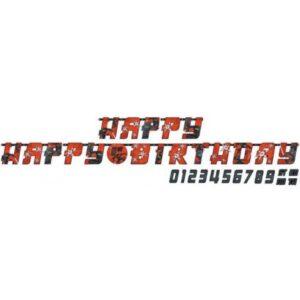 Ninja Happy Birthday Óriás felirat 320 cm