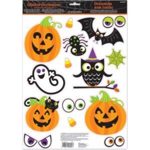 Halloween Ablak matrica 15 db-os