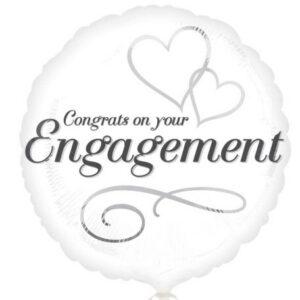 Engagement, Eljegyzés Fólia lufi 43 cm