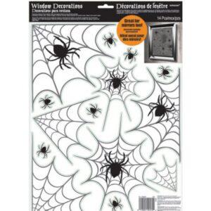 Halloween Spider Web, Pókháló Ablak matrica 14 db-os