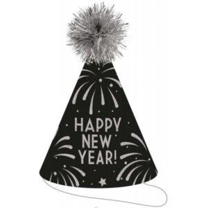 Happy New Year Parti kalap, csákó 23,5 cm