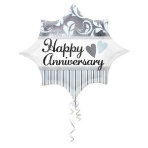 25. Happy Anniversary, Évforduló Fólia lufi 48 cm