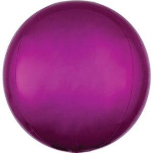 Bright Pink Gömb Fólia lufi 40 cm