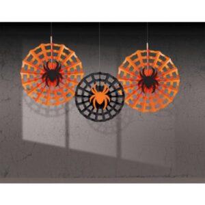 Pókháló Függő dekoráció 3 db-os szett
