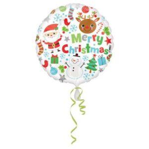 Merry Christmas, Boldog Karácsonyt Fólia lufi 43 cm