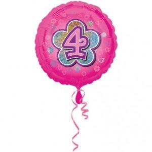 4. Birthday, Születésnap fólia lufi 43 cm