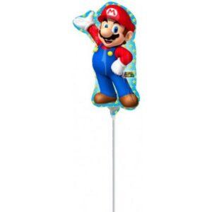 Super Mario mini fólia lufi 30 cm