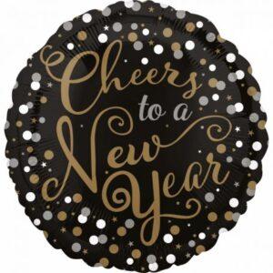 Happy New Year Fólia lufi 43 cm