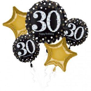 Happy Birthday 30 Fólia lufi 5 db-os szett