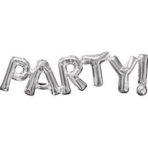 Party Fólia lufi Silver 83*22 cm