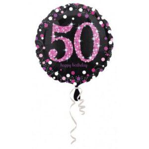 Happy Birthday 50 fólia lufi 43 cm