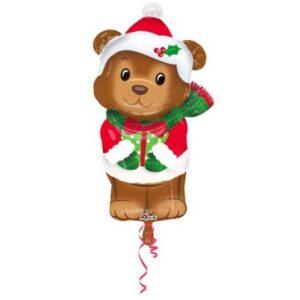 Christmas Bear, Karácsonyi Maci Fólia lufi 73 cm