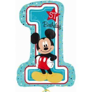 Disney Mickey Első születésnap fólia lufi 71 cm