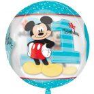 Disney Mickey Első születésnap gömb fólia lufi