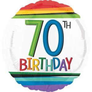 Happy Birthday 70 fólia lufi 43 cm