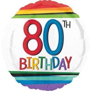 Happy Birthday 80 fólia lufi 43 cm