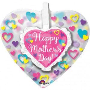Happy mother's day, Boldog anyák napját Fólia lufi 66 cm