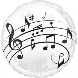 Music, Zene Fólia lufi 43 cm