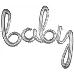Baby Fólia lufi Silver 99*83 cm