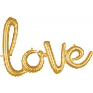 Gold, Arany Love fólia lufi 78*53cm