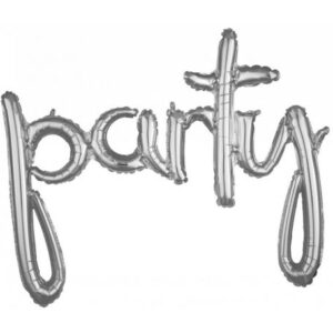 Party Fólia lufi Silver 99*78 cm