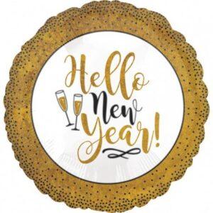 Happy New Year Fólia lufi 45 cm