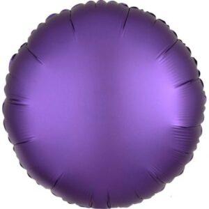 Szatén Purple Royale fólia lufi 43 cm