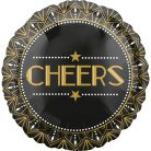 Cheers, Party time Fólia lufi 43 cm
