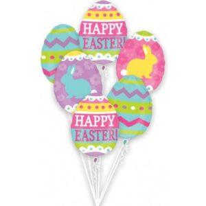 Easter, Húsvét Fólia lufi 6 db-os szett