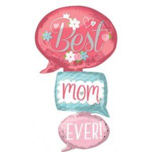 Best Mom Ever, Legjobb anya Fólia lufi 134 cm