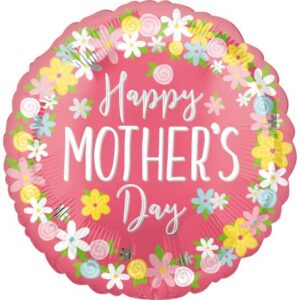 Happy mother's day, Boldog anyák napját fólia lufi 43 cm
