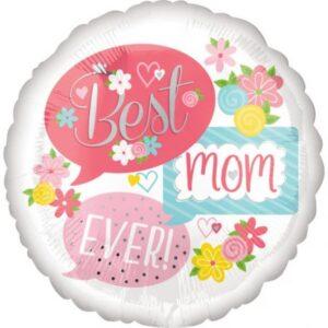 Best Mom Ever, Legjobb anya Fólia lufi 43 cm