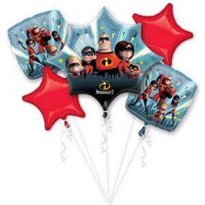 Disney A Hihetetlen család Fólia lufi 5 db-os szett