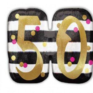 Happy Birthday 50 fólia lufi 63 cm