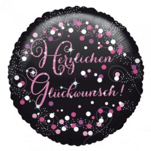 Herzlichen Glückwunsch Pink fólia lufi 45 cm