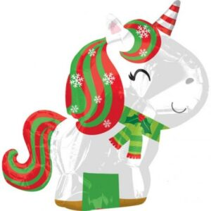 Christmas Unicorn, Unikornis Fólia lufi 53 cm