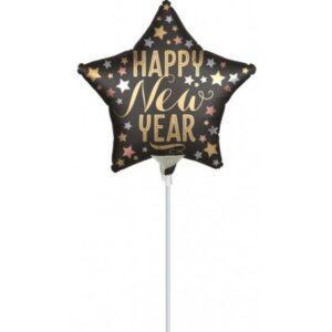 Happy New Year Fólia lufi 23 cm