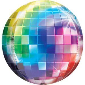 Disco gömb fólia lufi 40 cm